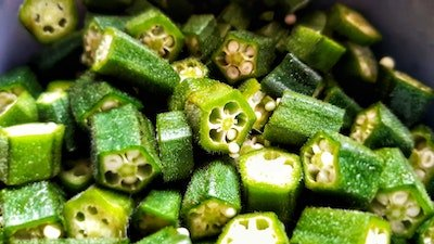 okra pods easy to grow in pots on patio or deck