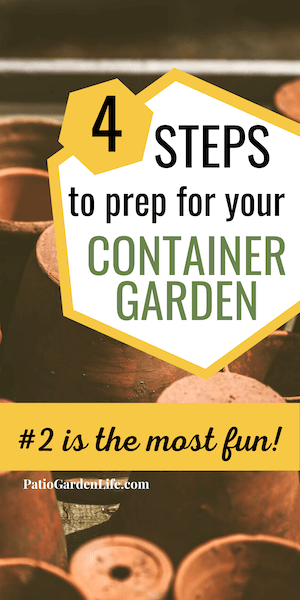 Container garden planner - 4 steps to choose your plants, seeds and containers